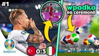 Mistrzostwa Europy ROZPOCZĘTE! Turcja 0:3 Włochy! Wpadka podczas CEREMONII! | EURO2020 | LANDRI