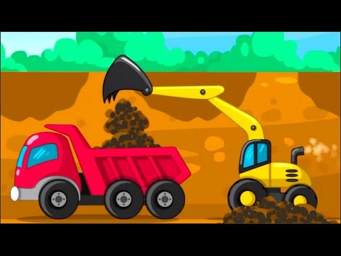 BUILDER GAME FOR KIDS GAME APP -CONSTRUCTION TRUCKS AT THE JOB SITE WITH EXCAVATOR DUMP TRUCK & MORE