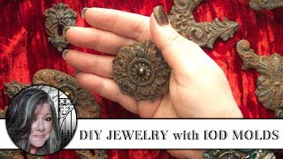 DIY Jewelry with Iron Orchid Designs Decor Moulds!
