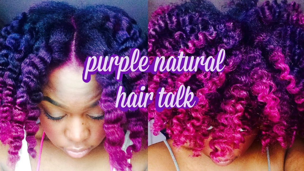 Natural Hair Purple Hair Info Youtube