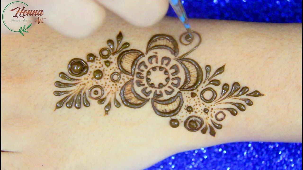 New Back Hand Mehendi Designs for Beginners-Mehandi Design Simple and Easy-Mehndi Design-HENNA ART