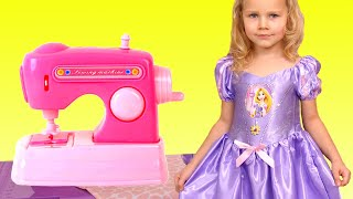 Lily Pretend Play Dress Up for a Birthday party!