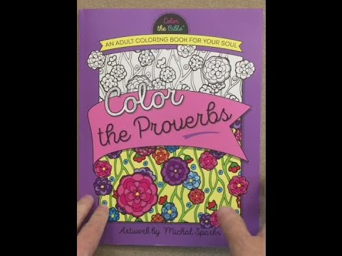 Color The Proverbs An Adult Coloring Book For Your Soul Bible Flip Through