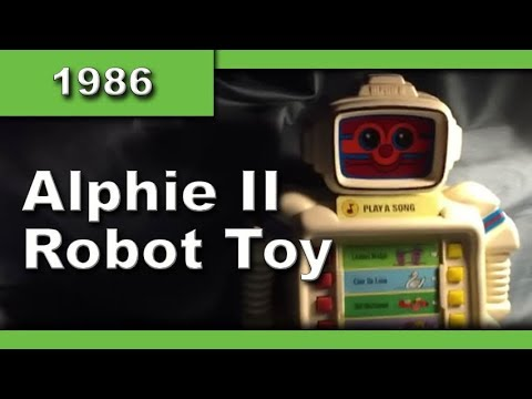 Garage Yard Sale Find Vintage 1986 Playskool Alphie II Robot Computer Game Learning Great Toy