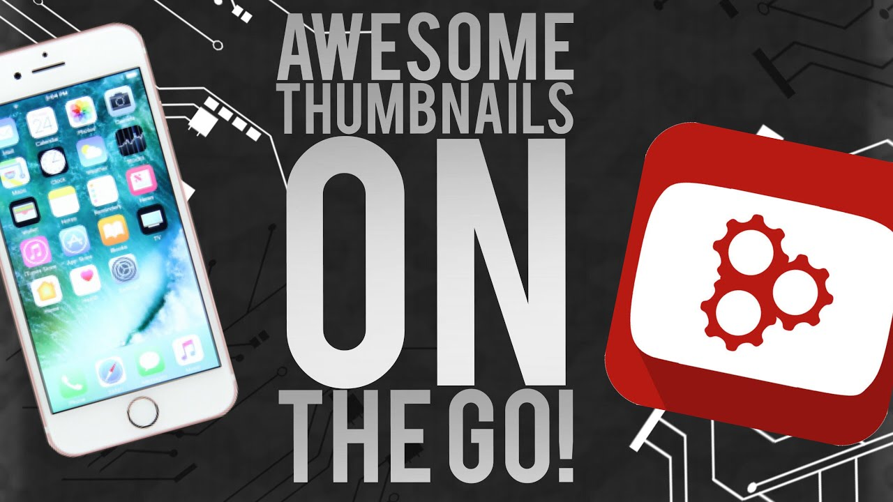 How to create awesome YouTube Thumbnails on your iPhone with Thumbnail  Maker! Review plus Tutorial!