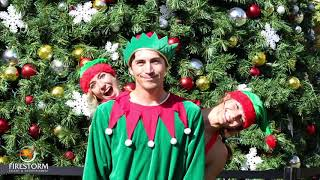 Firestorm entertainment christmas holiday performance elf stilt santa clause mrs OC convention cente