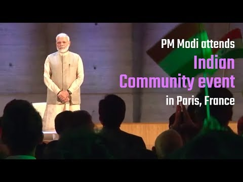 PM Modi attends Indian Community event at UNESCO Headquarters in Paris, France | PMO