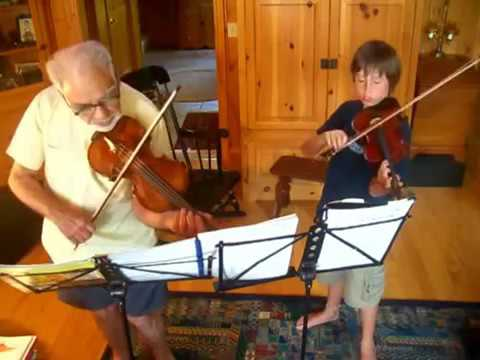 Joey Fischer and Great Grandfather, Ed Simons: Bach Double
