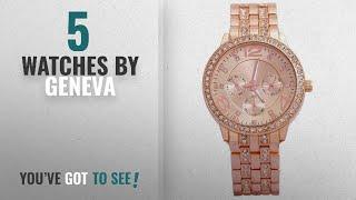 Top 10 Geneva Watches [2018]: Geneva Analog RoseGold Dial Women's Watch-g8027_D