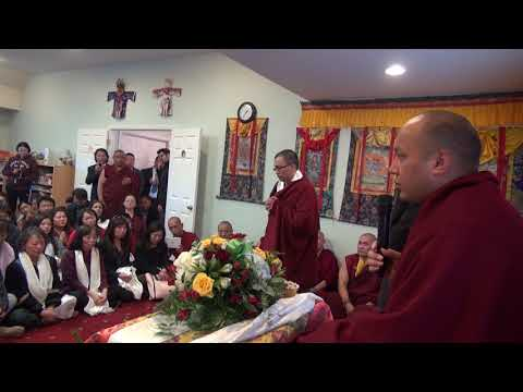 H.H.  17th Gyalwang Karmapa Ogyen Trinley Dorje speech to Gampopa Center students in Tibetan