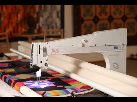 Millennium Longarm Quilting Machine From Apqs Youtube