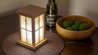 DIY touch-activated LED lantern