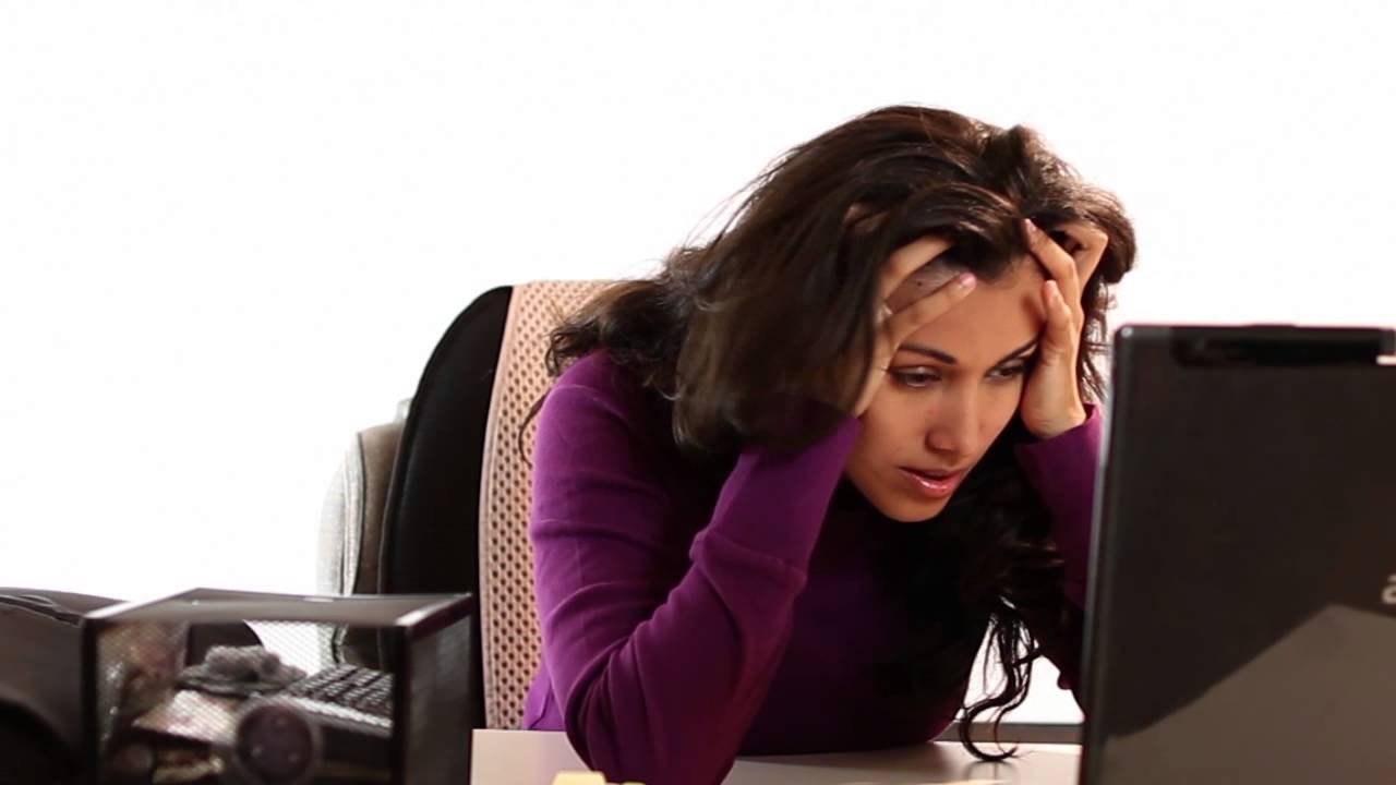 Image result for woman stressing