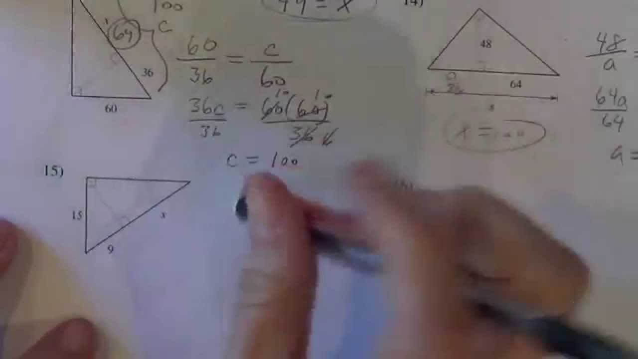 Similar Right Triangles Kutasoftware Part 2 of 2 YouTube – Kuta Geometry Worksheets