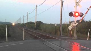 LIRR Double Decker Passing through Napeaque Harbor Rd. Crossing in Amagansett, NY- Train #8719