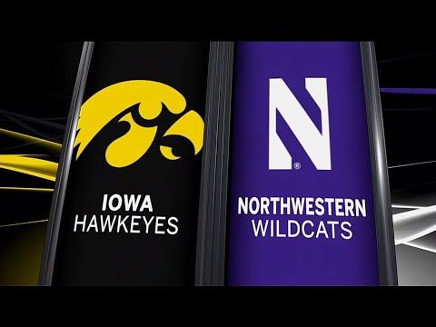 Iowa at Northwestern - Football Highlights