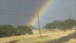Tornado near Chico-Oroville Ca. May 25, 2011 RARE! w/double rainbow