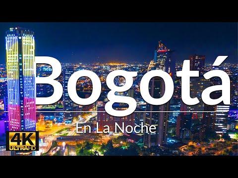 Bogotá En La Noche | Bogota Colombia Drone 4K | Torre Colpatria