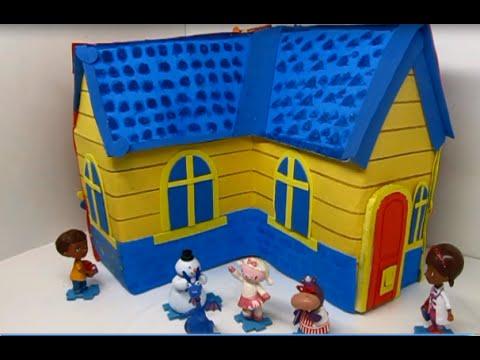 How To Make A Doc Mcstuffins House Como Hacer Una Casa Para La Doc Mcstuffins Youtube