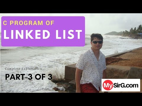 Program of Linked List Explained Part 3 Hindi