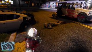 GTA 5 REDUX Nier:Automata 2B Gameplay! 2017 Realistic Graphics MOD 1080p 60fps