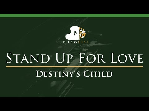 Destiny's Child - Stand Up For Love - LOWER Key (Piano Karaoke / Sing Along)