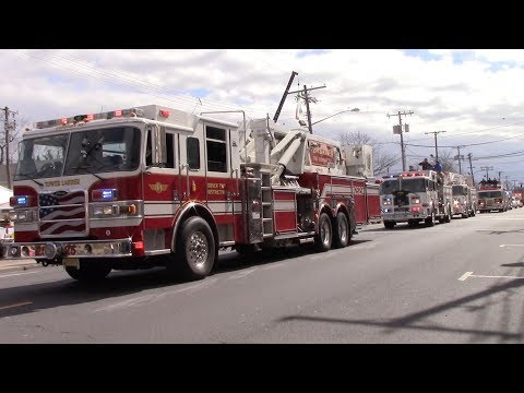 Belmar St. Patricks Day Parade Emergency Vehicles And Pipe B