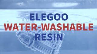 Meet ELEGOO Water Washable Resin!