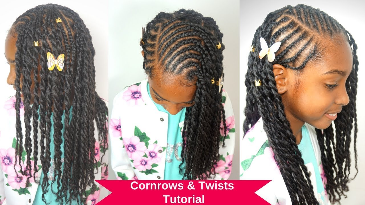 kids natural hairstyles tutorial | cornrows & twists