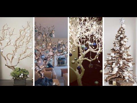 10 ideas de rboles de navidad hechos con ramas secas - Ramas de arbol para decoracion ...