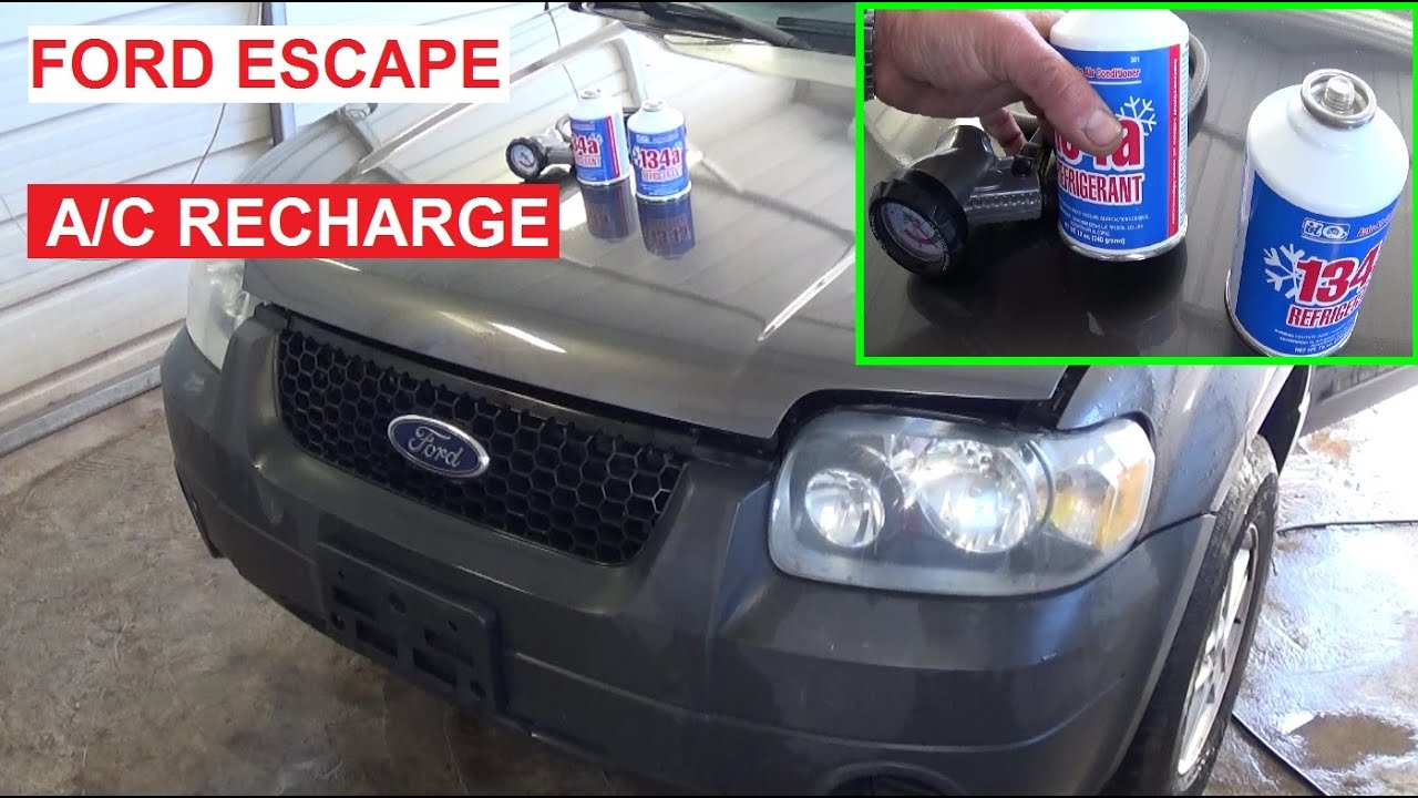 hight resolution of how to recharge the a c system on a ford escape mercury mariner ac 2001 2007