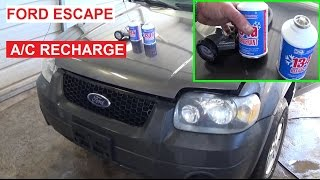 How to Recharge the A/C System on a Ford Escape Mercury Mariner AC 2001-2007