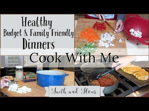Cook With Me | Healthy Family Dinners | 3 Dinner Recipes