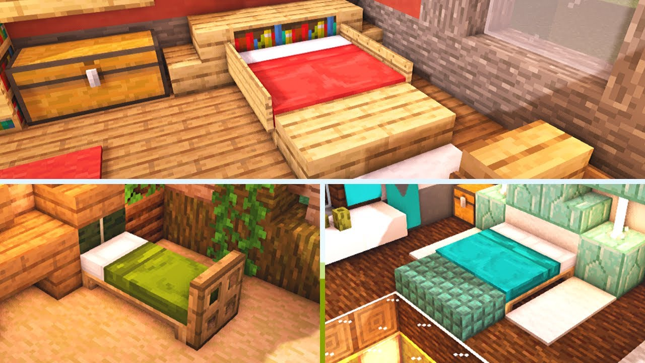 11 Minecraft Bedroom Design Ideas To Build For Your House Tutorial Youtube