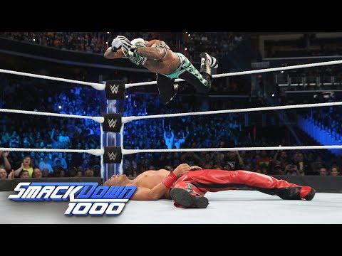 Rey Mysterio vs. Shinsuke Nakamura - WWE World Cup Qualifying Match: SmackDown 1000, Oct. 16, 2018