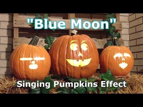 Blue Moon - Singing Pumpkins Animation Effect