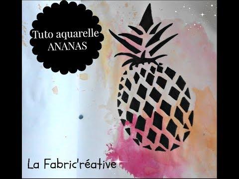 Ete Ananas Sur Fond Aquarelle Facile
