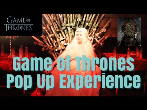 Game of Thrones Pop-Up Bar Experience: Chicago 2019 - 동영상
