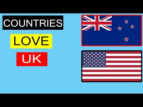 Top 10 countries that love United kingdom