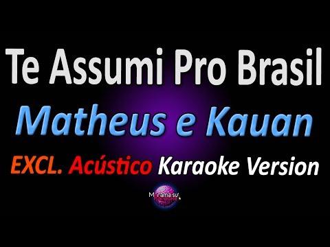 TE ASSUMI PRO BRASIL Karaoke  - Matheus e Kauan Acústico