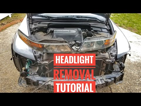 HOW TO REMOVE 2004-2008 ACURA TL HEADLIGHTS TUTORIAL