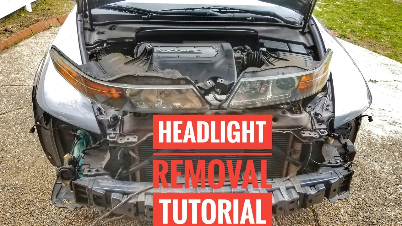 How To Remove 2004 2008 Acura Tl Headlights Tutorial