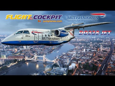 Steep Approach Jet into London City Airport