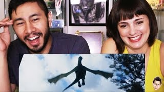 PETE'S DRAGON teaser trailer reaction review by Jaby & Casey!