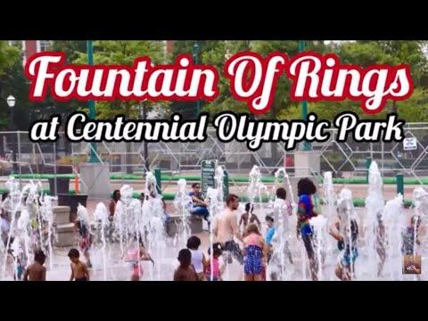 Fountain Of Rings at Centennial Olympic Park   Atlanta   Photography (HD)