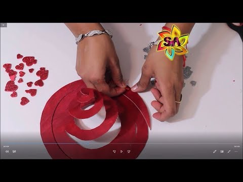 Love is in the Air - DIY Hanging Hearts Spiral for Valentine Day last minute Decor