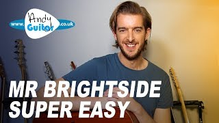 Mr Brightside - Simple acoustic guitar tutorial - The Killers
