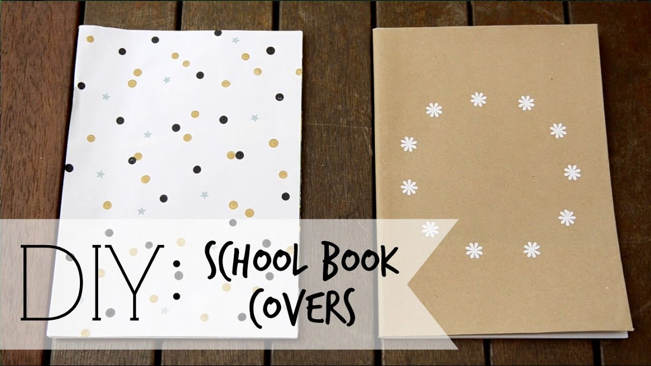 Book Covers School Books : Diy book covers for back to school youtube