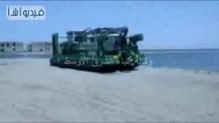 بالفيديو : كراكتان جديدتان لتطهير بحيرة قارون