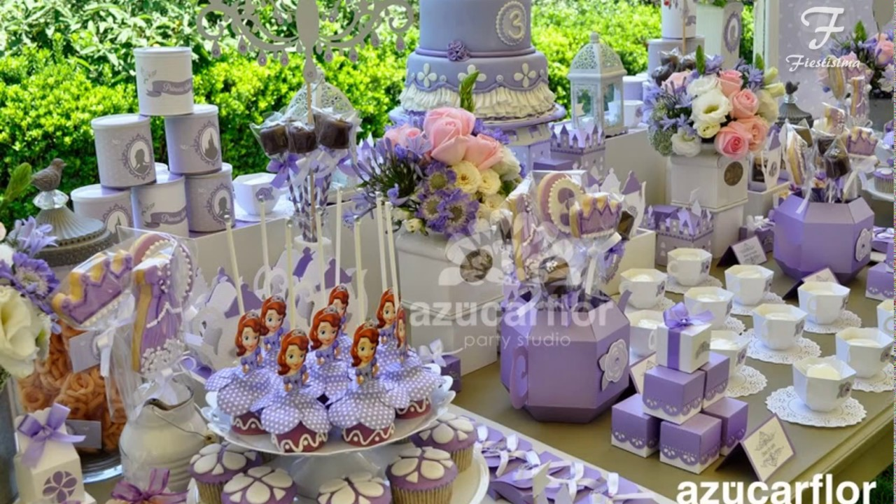 Mesas dulces cumplea os princesa sofia youtube for Mesas dulces cumpleanos